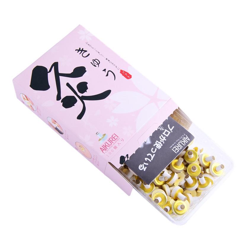 日本无烟艾灸粒脸部美容灸儿童咳嗽艾灸贴随身麦粒灸艾艾贴100粒